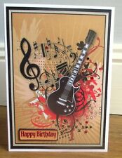 Personalised Handmade Electric Guitar Birthday Card Son Grandson Godson Nephew