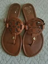 Tory Burch Miller Brown Leather Leather Flip Flop Sandals Shoes Size 6