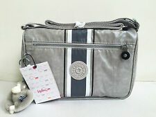 BNEW Authentic KIPLING Callie Coated Crossbody Sling Travel Bag Pearl Grey $79