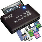 All in One Memory Card Reader USB External SD SDHC Mini Micro M2 MMC XD CF MS