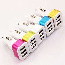 Chargeur voiture-USB 3 ports-allume cigare-pour Iphone Ipad Samsung