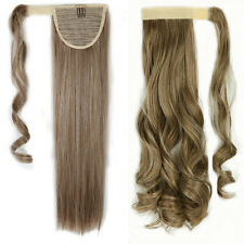 One Piece Clip In Ponytail Hair Extensions Thick Wrap Around Pony Tail as Real S