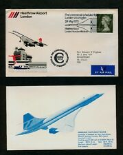 Official Heathrow Airport First Flight Cover MAY 24 1976 London to Washington