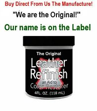 Free Ship BLACK *We are the ORIGINAL! LEATHER Refinish an Aid to Color RESTORER