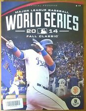 KANSAS City Royals MLB WORLD SERIES 2014 Baseball San Francisco Giants programma