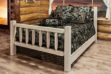 Amish Made Beds QUEEN Rustic Solid Pine Bed Timber Farmhouse Lodge Cabin