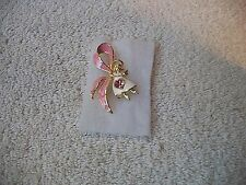 BOB MACKIE Darling Angel Nurses Pin Pink & White Goldtone New Great Gift Fr Shp