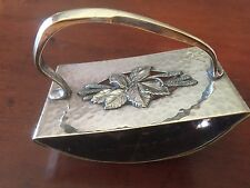 Antique Kayser Germany Art Nouveau Hammered Metal Ink Blotter Rocker Floral Fine