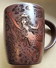 Starbucks Coffee Mug 2011 Anniversary Edition Brown with Classic Gold Mermaid
