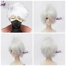Silver White Short Wig for Hatake Kakashi SOUL EATER Anime Cosplay Wig + Wig Cap