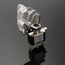 Car Auto Intérrupteur Inverseur Bascule Levier SPST LED On/Off Switch Couvercle