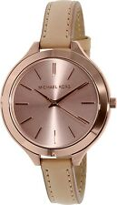 Michael Kors Women's Runway MK2274 Brown Leather Quartz Watch
