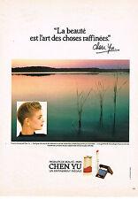 PUBLICITE  1982   CHEN YU   cosmétiques