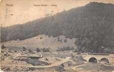Azuga Romania Scenic View Bridge Antique Postcard J54464
