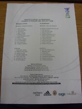24/02/2005 Colour Teamsheet: Newcastle United v Heerenveen [UEFA Cup]. Trusted s