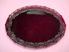 "Avon Ruby Cape Cod Red Glass 13 5/8"" Oval Platter Excellent Condition"