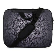 "TaylorHe 15.6"" DEFECT Laptop Shoulder Bag With Handles Strap Black Paisley"