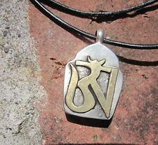 TIBETAN SILVER TIBETAN BUDDHIST GHAU BOX STORAGE PENDANT LEATHER NECKLACE NEPAL
