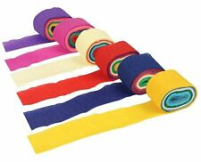 12 ROLLS CREPE STREAMER CREPE PAPER STREAMER PARTY DECORATION 7FT