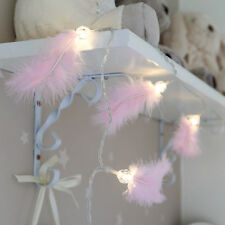 1.5M INDOOR BATTERY OPERATED PINK FEATHER CHRISTMAS XMAS FAIRY STRING LED LIGHTS
