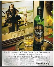 Publicité Advertising 1986 Scotch Whisky Glenfiddich
