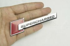 1Pcs Red SUPERCHARGED Car Body Side & Trunk Lid Sticker Badge Emblem Decoration
