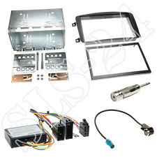 2-din mercedes clase c w203 radio diafragma 05/2000 -2004 + JVC volante Interface set