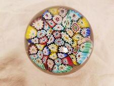 Vintage Millefiori Paperweight Murano Art Glass