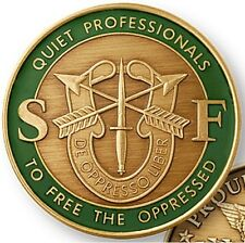 U.S. ARMY SPECIAL FORCES GREEN BERET THE QUIET PROFESSIONALS CHALLENGE COIN  (0)