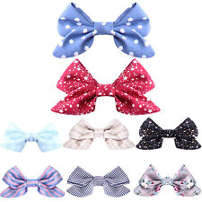8pcs Boutique Hair Bows Clips Girls Baby Ribbon Floral hairbands headbands