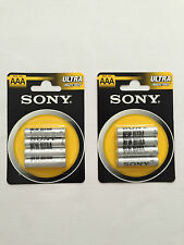 Sony AAA RO3 x 8 Ultra Heavy Duty Batteries 8 Pieces 2 Pack 1.5V Brand New Pack