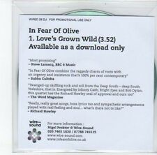 (DJ783) In Fear of Olive, Love's Grown Wild - 2012 DJ CD
