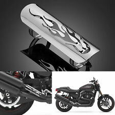 Pierced Style Exhaust Muffler Pipe Heat Shield Cover Guard For Harley Black