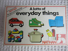 1986 Jeux Nathan Toys France A Lotto of Everyday Things matching cards age 3-8