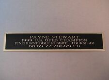 Payne Stewart 1999 US Open Champ Nameplate For A Golf Ball Display Case 1.5 X 8