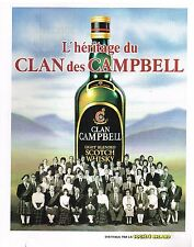 Publicité Advertising 1982 Scotch Whisky Clan campbell