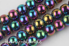 25 Pcs Colorful Czech Crystal Glass Round Loose Spacer Bead Jewelry Finding 8mm