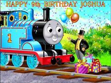 "PARTY PACK - THOMAS THE TANK ENGINE PERSONALIZED 10 x 7.5"" ICING CAKE TOPPER"