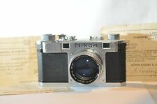 Nikon S Rangefinder RF camera Nikkor 5cm lens Nippon Kogaku Adolph Gasser SF USA