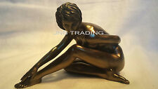 NEW Artistic Nude Sexy Female Short Hair Statue Sculpture Figurine Bronze Finish