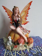 RARE FAIRY SITE  FAIRY FIGURE PUMPKIN PATCH BY NENE THOMAS  NEW AND BOXED