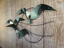1985 Mid Century Curtis C.Jere Birds Seagulls Mixed Metal Art wall Sculpture 45""