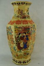 collectible chinese Famille Rose porcelain Hand Painting Belle vase