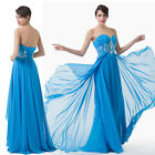 Sweetheart Bead Formal Long Bridesmaids Evening Prom Party Dress 4 6 8 10 12 14+
