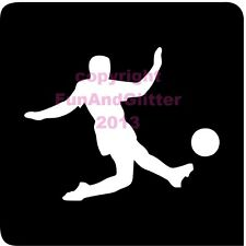 FG077 - 5 x FOOTBALLER STENCIL for Glitter and Ink Tattoo's