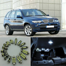 23×White LED Interior SMD Light Kit Error Free for BMW X5 E53 2000-2006