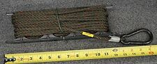 MILITARY SURPLUS 1440-006 CARABINER ENDS ANTENNA TENT 45 FT GUY WIRE SET & REEL