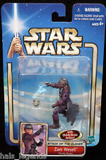 Star Wars Attack of the clones. ZAM WESELL Bounty Hunter. New!