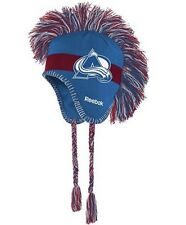 NEW Reebok Colorado Avalanche Winter Hat Mohawk Youth Boys Size 8+ Hockey NHL