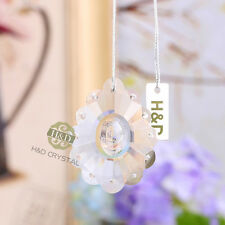 5 Clear Suncatcher Hanging Glass Crystal Rainbow Prism Feng Shui Pendants 50mm